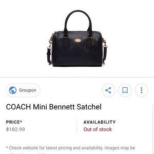 Coach Mini Bennett Satchel Signature